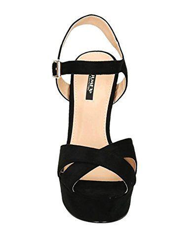 a98f539b3971 Damen Riemchen Abend Sandaletten High Heels Pumps Slingbacks Velours Peep  Toes Party Schuhe Bequem 07