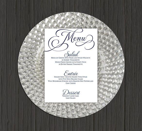 Wedding Menu Template 44 Free Word PDF PSD EPS Format Download