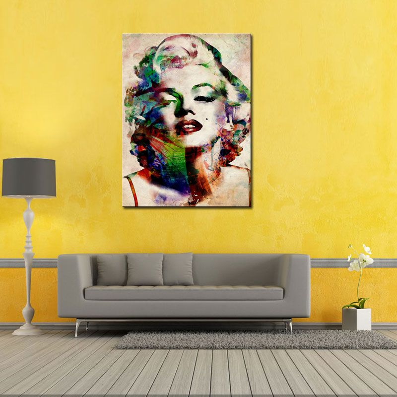 Pinturas de lienzo 1 Picture Canvas Painting Sexy Marilyn Monroe ...