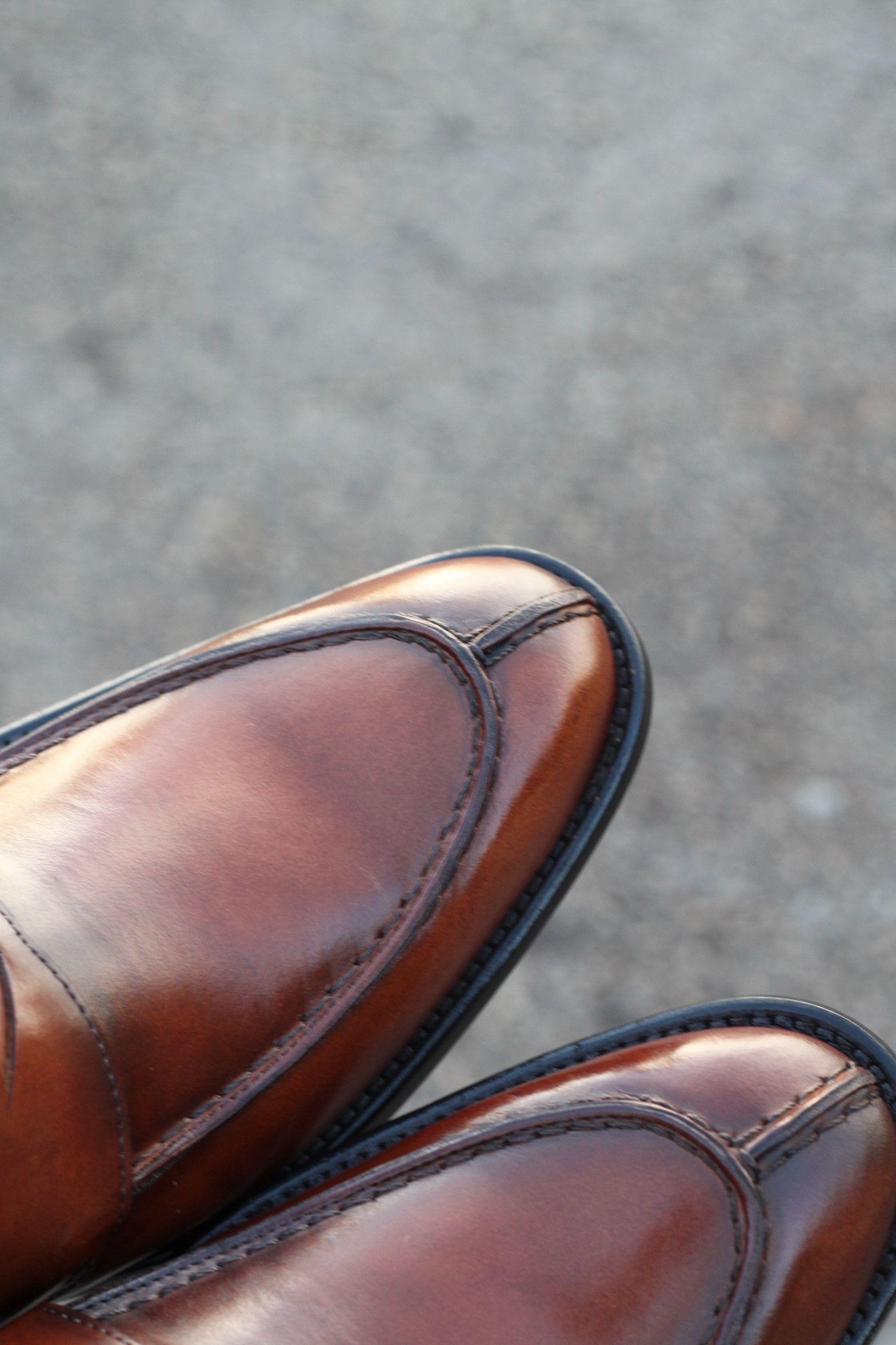 ffea26a4e Sapato Social Masculino Loafer CNS em couro cor Damasco