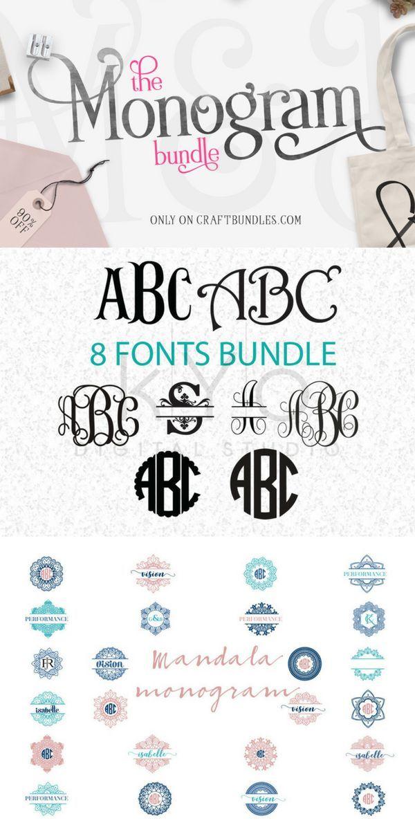 Download The Monogram Bundle | Free monogram fonts, Cricut monogram ...