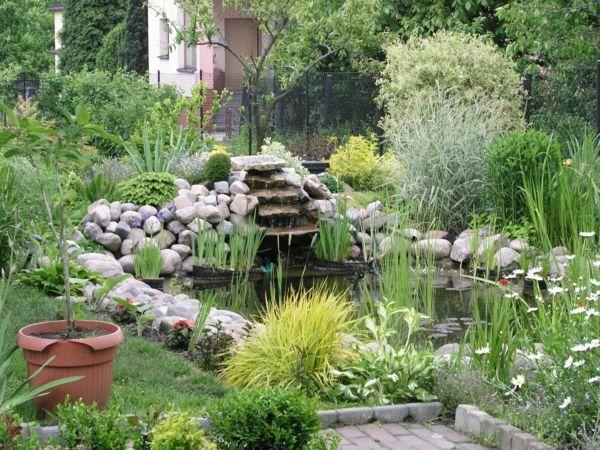 Exterieur Garten Gestalten Teich Wasser Steine