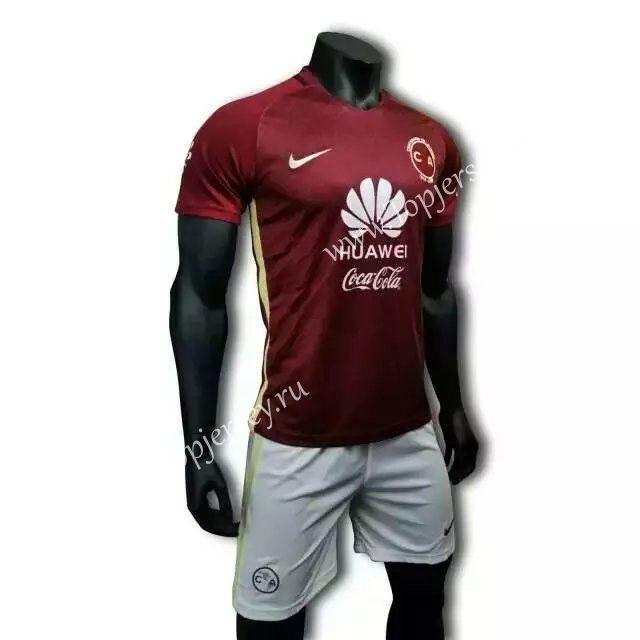 new product 65b91 6b579 2016-2017 Club America Away Red Soccer Uniform-Club America ...