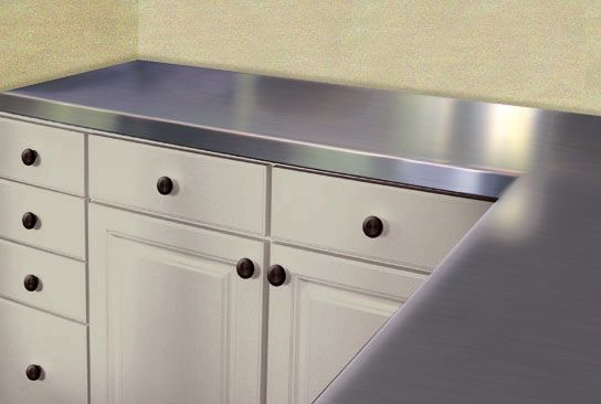 A Very Classic Stainless Steel Countertop Look I Would