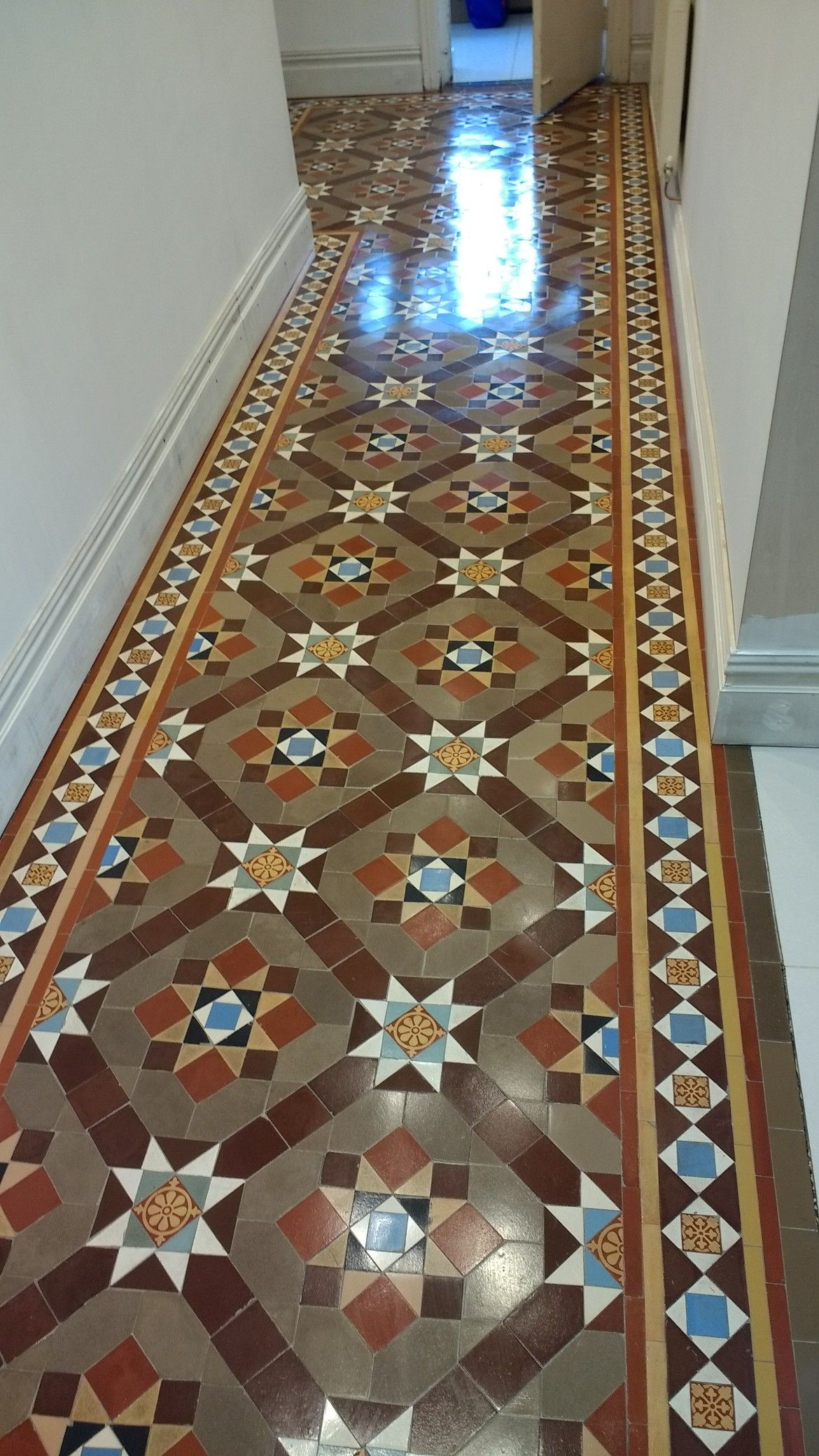Geometricencaustic hall following restoration victorian floor geometricencaustic hall following restoration doublecrazyfo Gallery