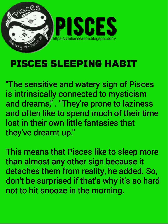 Pisces sleeping habit | Pisces | Zodiac signs pisces, Pisces man