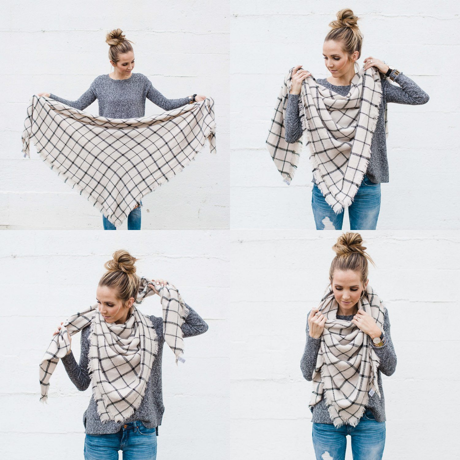 7babcef70 Merrick's Art // Style + Sewing for the Everyday Girl : How to Wear A Blanket  Scarf