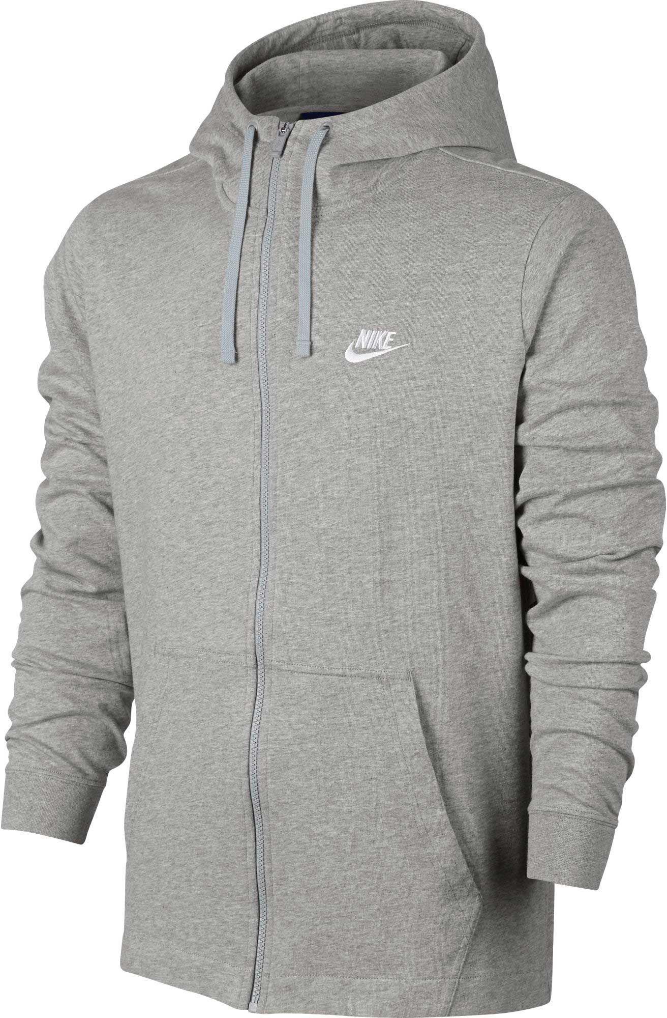 Nike Men's Sportswear Full Zip Hoodie, Size: XL, Dk Grey