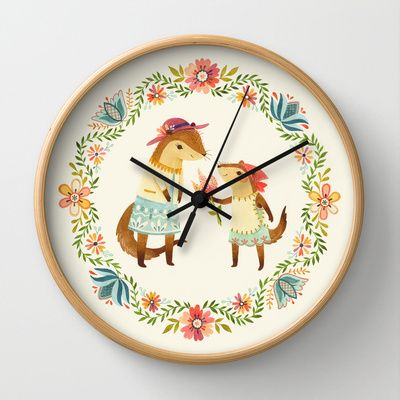 Otterly Grateful Wall Clock