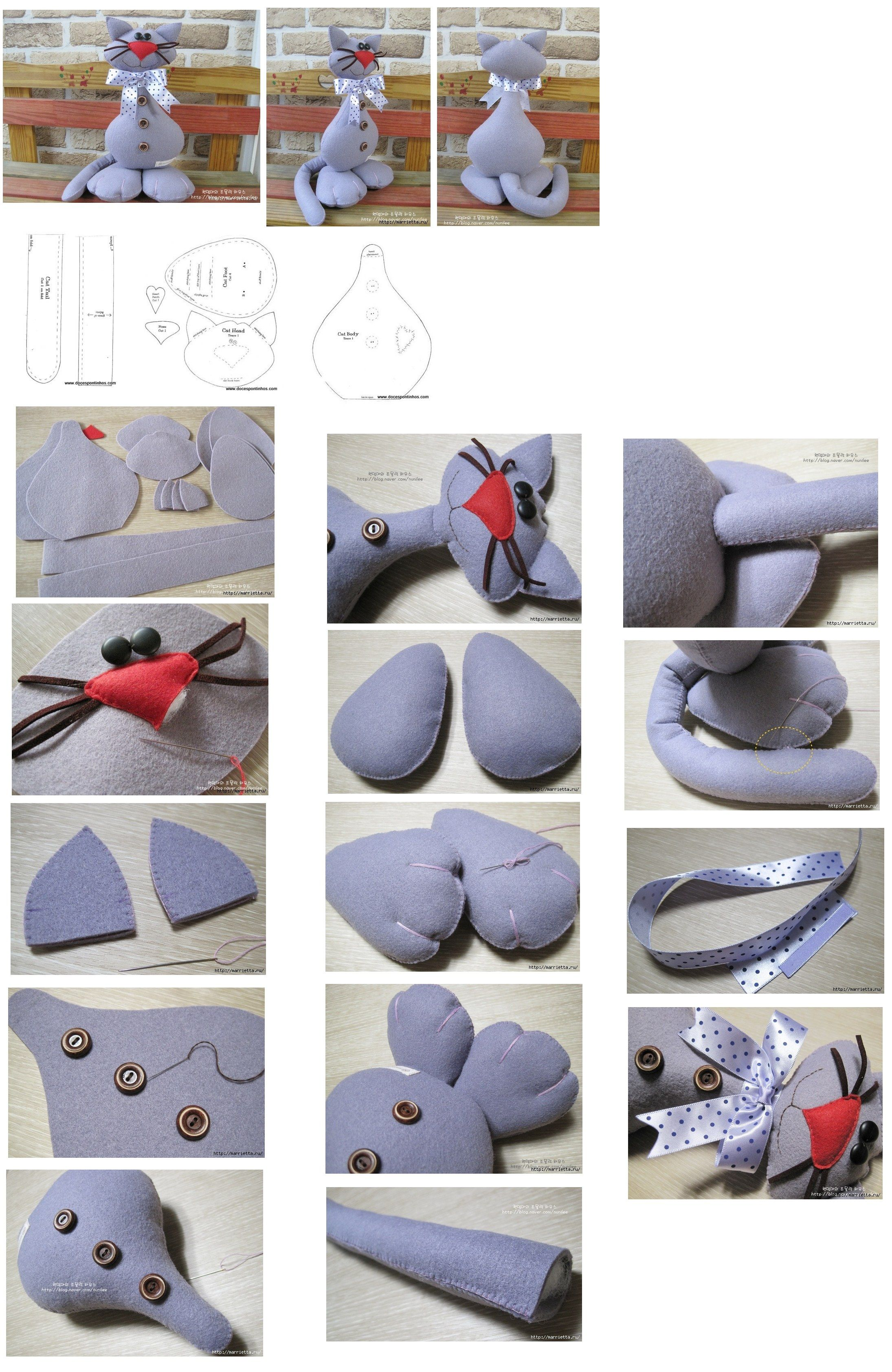 cat stuffed toy pattern how to with pictures | DIY projects ...