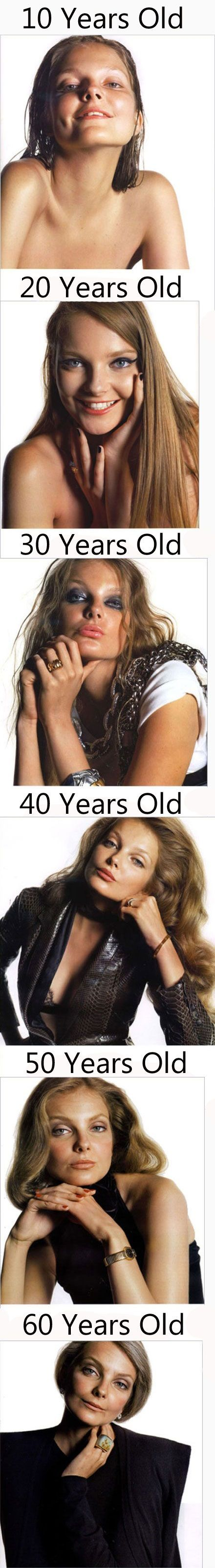 How to distinguish a 30-year-old girl from a 40-year-old