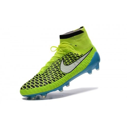 Nike Magista - Chuteira Society Nike Magista Obra FG Amarelo Verde Azul Novo
