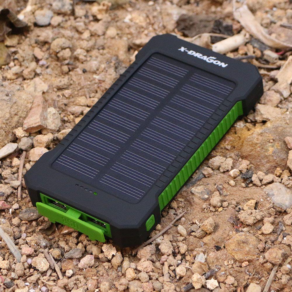 الجديد 10000 مللي أمبير شاحن محمول بنك الطاقة الشمسية الشمسية Outdoors الطوارئ بطارية خارجية ل اله Portable Solar Power Solar Charger Portable Solar Power Bank