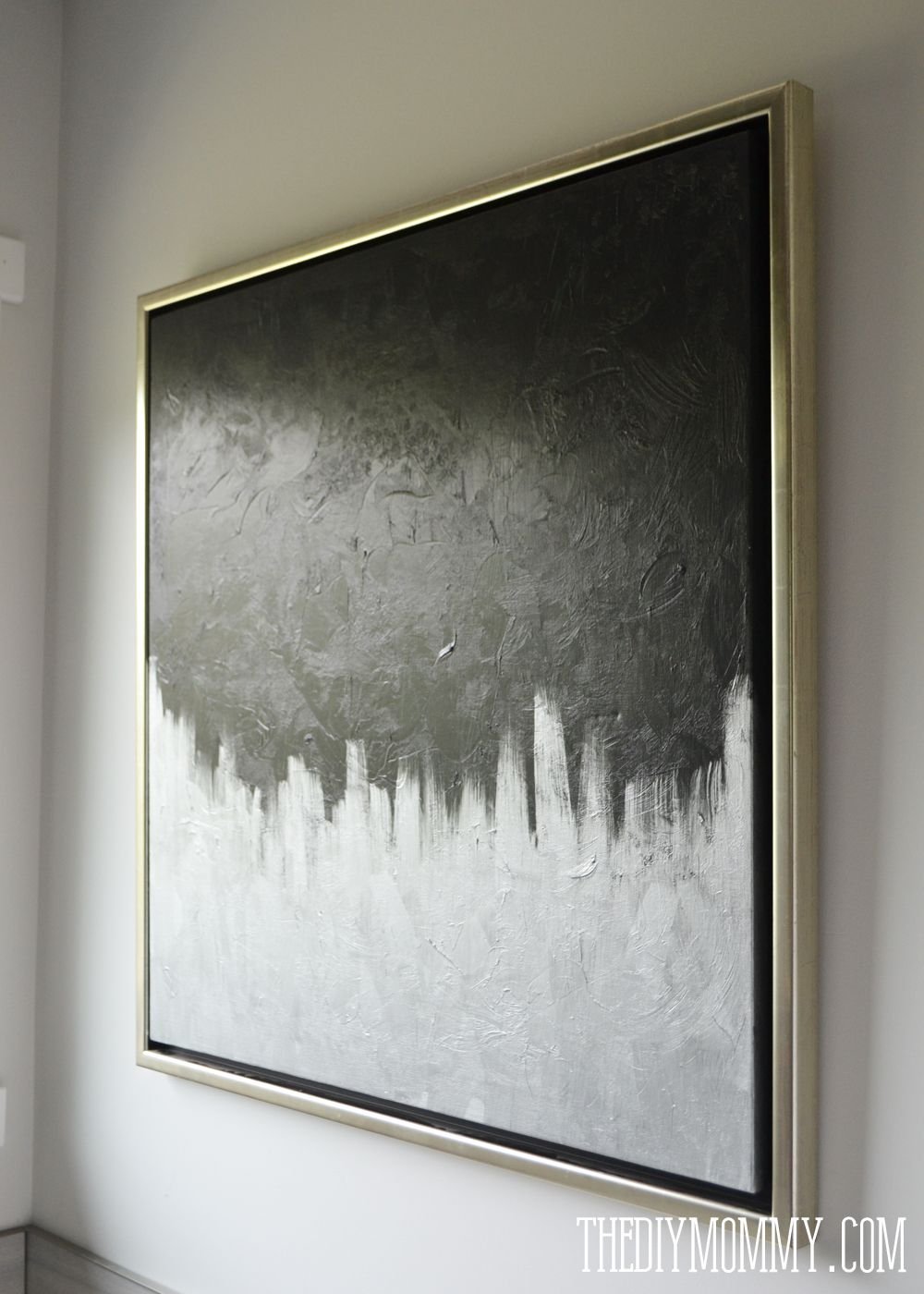Make Modern Artwork From Thrift Store Canvas Art DIY