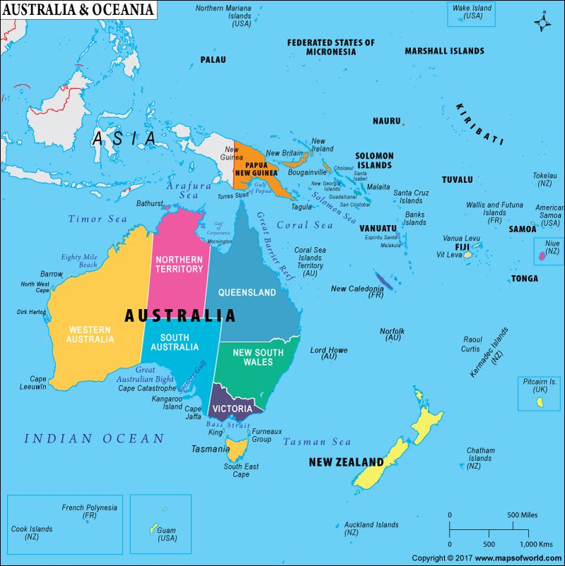 What Countries Comprise Oceania Is Oceania A Continent Country