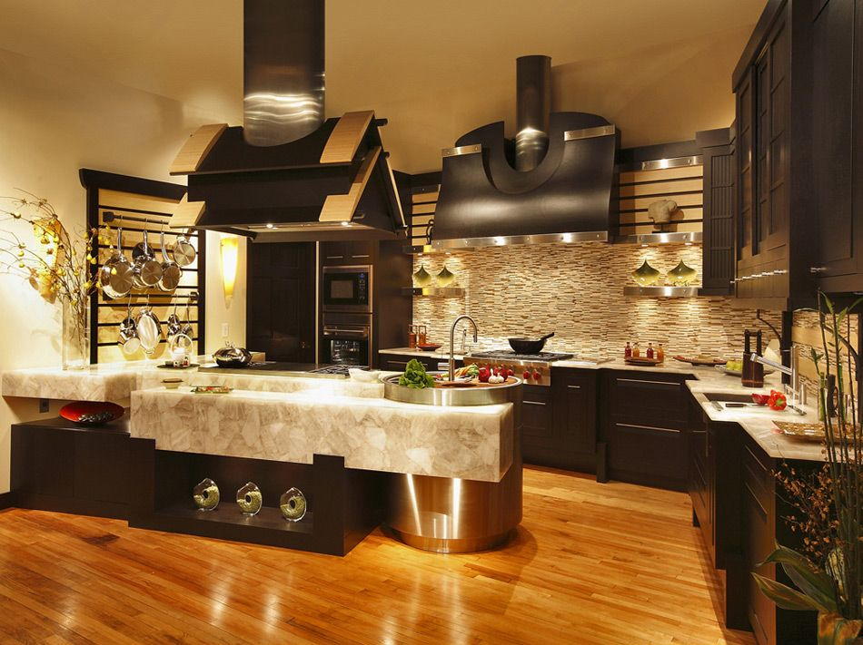 Best Modern Dark Wood Kitchen Luxury Kitchen Design Luxury 640 x 480