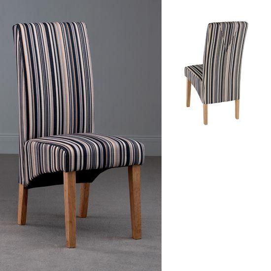 Roma Stripe Fabric Dining Chair
