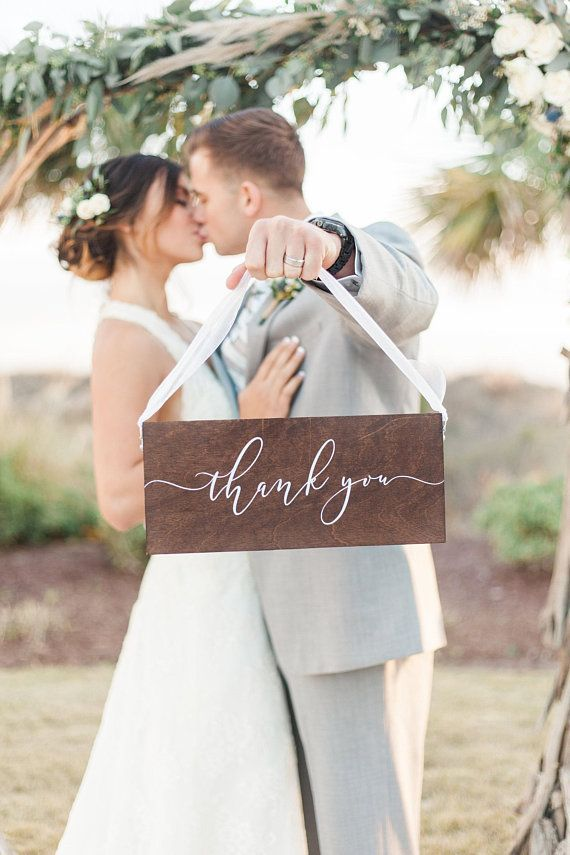 Thank You Wood Sign | Wood Thank You Sign | Wooden Thank You Sign | Wedding Thank You Sign | Wooden Wedding Signs | Thank You Sign - WS-268