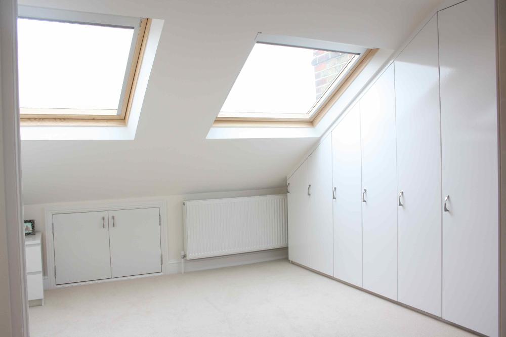 Loft Storage Ideas | Under Eaves ... in 2020 | Small loft bedroom, Loft storage, Loft conversion ...