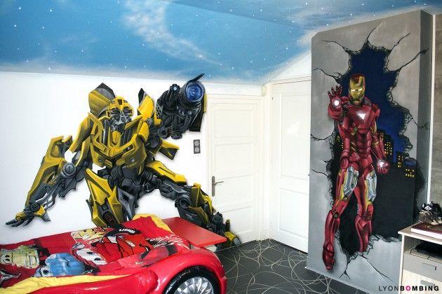 decoration chambre transformers