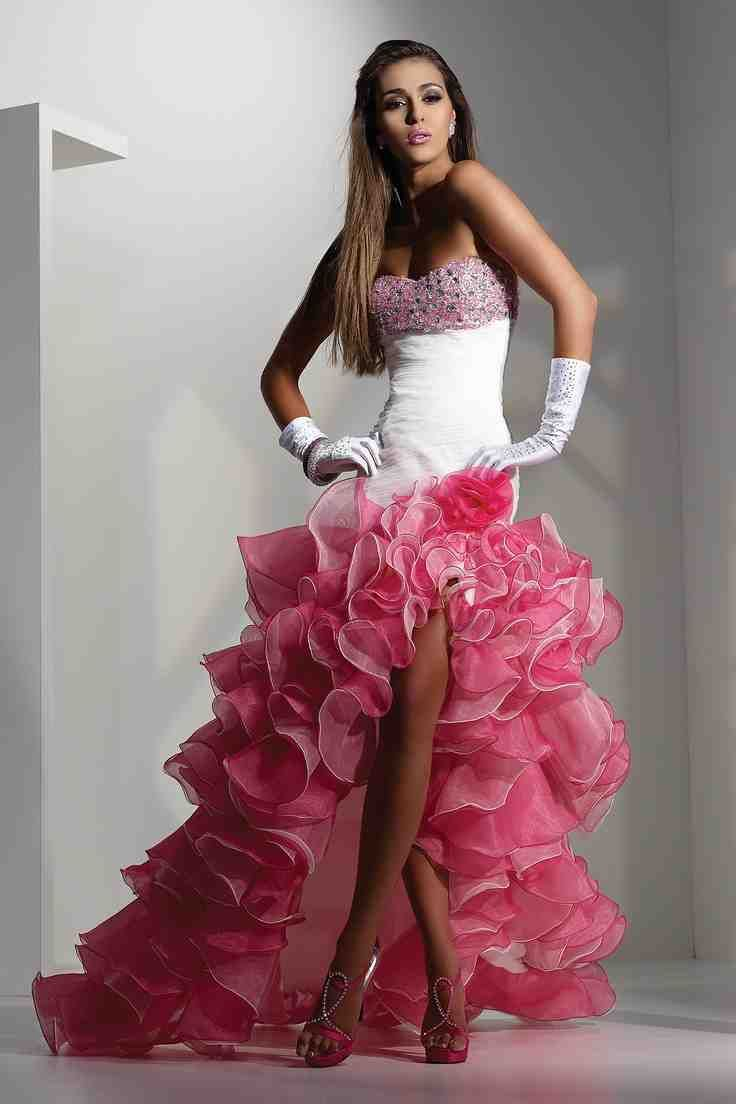 Hot pink and white wedding dresses white wedding dresses for White and hot pink wedding dress