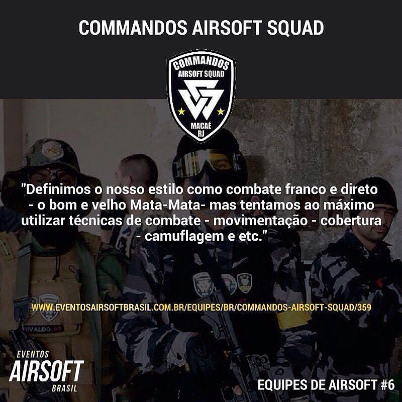 """COMMANDOS AIRSOFT SQUAD -  """"Definimos o nosso estilo como combate franco e direto - o bom e velho Mata-Mata- mas tentamos ao máximo utilizar técnicas de combate - movimentação - cobertura - camuflagem e etc""""  @_commandos   - #EquipesdeAirsoft #EventosAirsoftBrasil #Airsoft #AirsoftBrasil #equipes #airsoftinternational #multicam #bbs #tactical #commandossquad #airsoftra #airsoftasar #milsim #airsoftteams #esporte #airsoftteams #airsoftdf #airsoftto #airsoftsp #airsoftnational #airsofters…"""