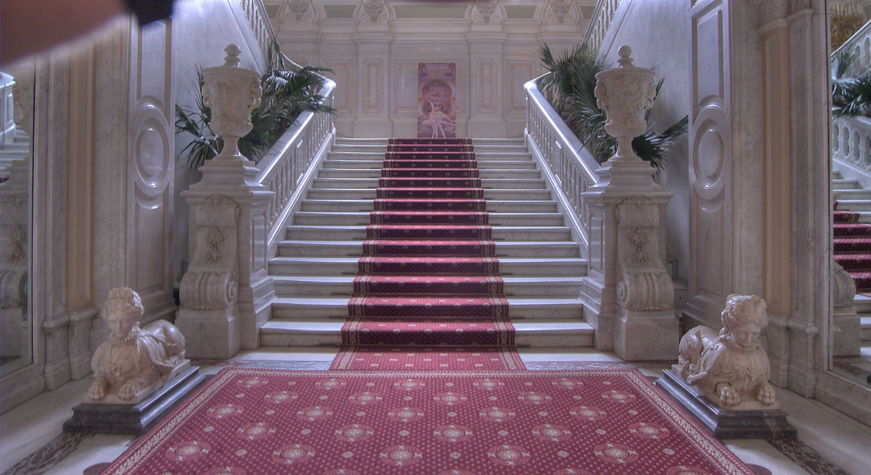 Grand Staircase Of Yusupov Palace Saint Petersburg Russia Russie