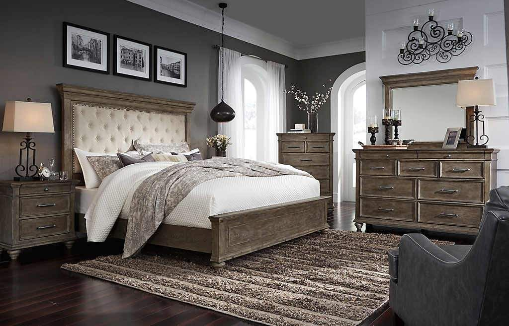 johnelle exclusive 5 piece king upholstered bedroom
