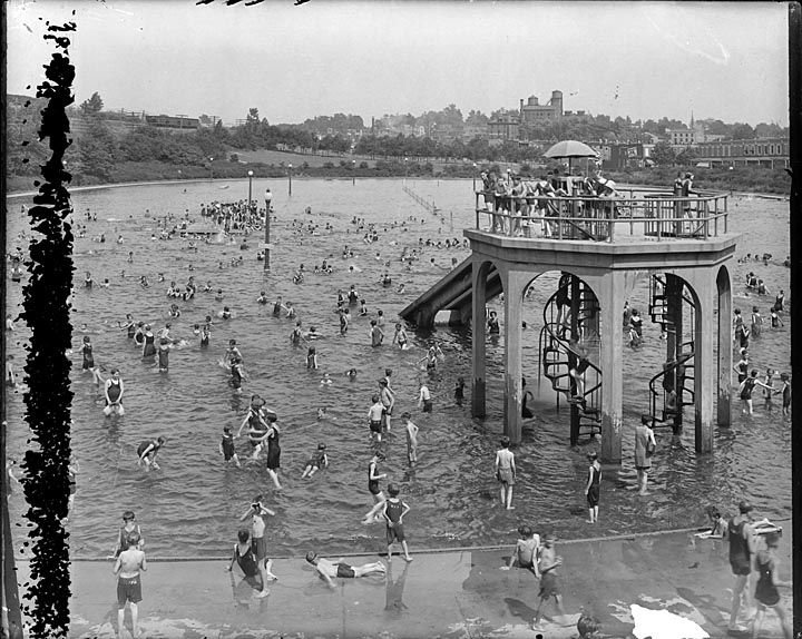 Swimming pool clifton park baltimore maryland ca 1920 my father was born in 1920 in a Clifton high school swimming pool