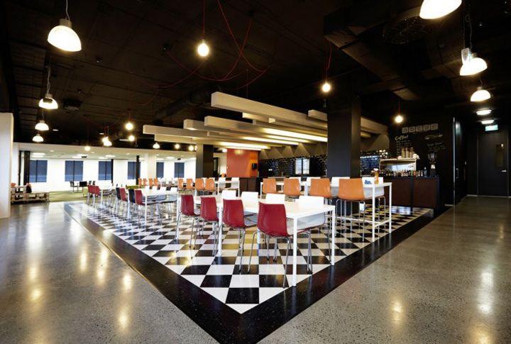 New Zealand Racing Boards Cafeteria And Training Room Office Interior Design Interior Design Presentation Office Interiors