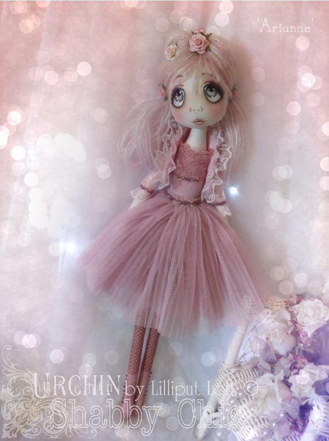 Urchin Art Doll 'Arianne' by Vicki at Lilliput Loft