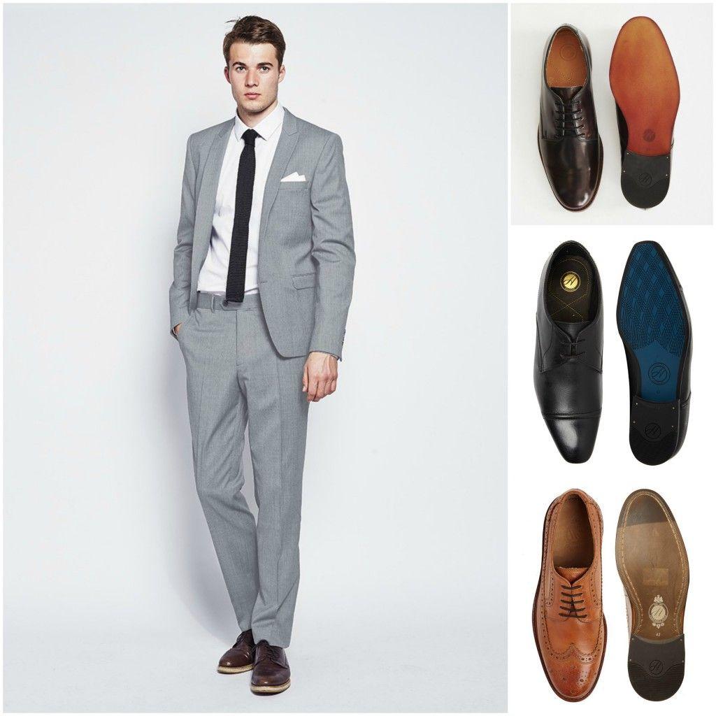 Grey suit shoes, Smart casual wear