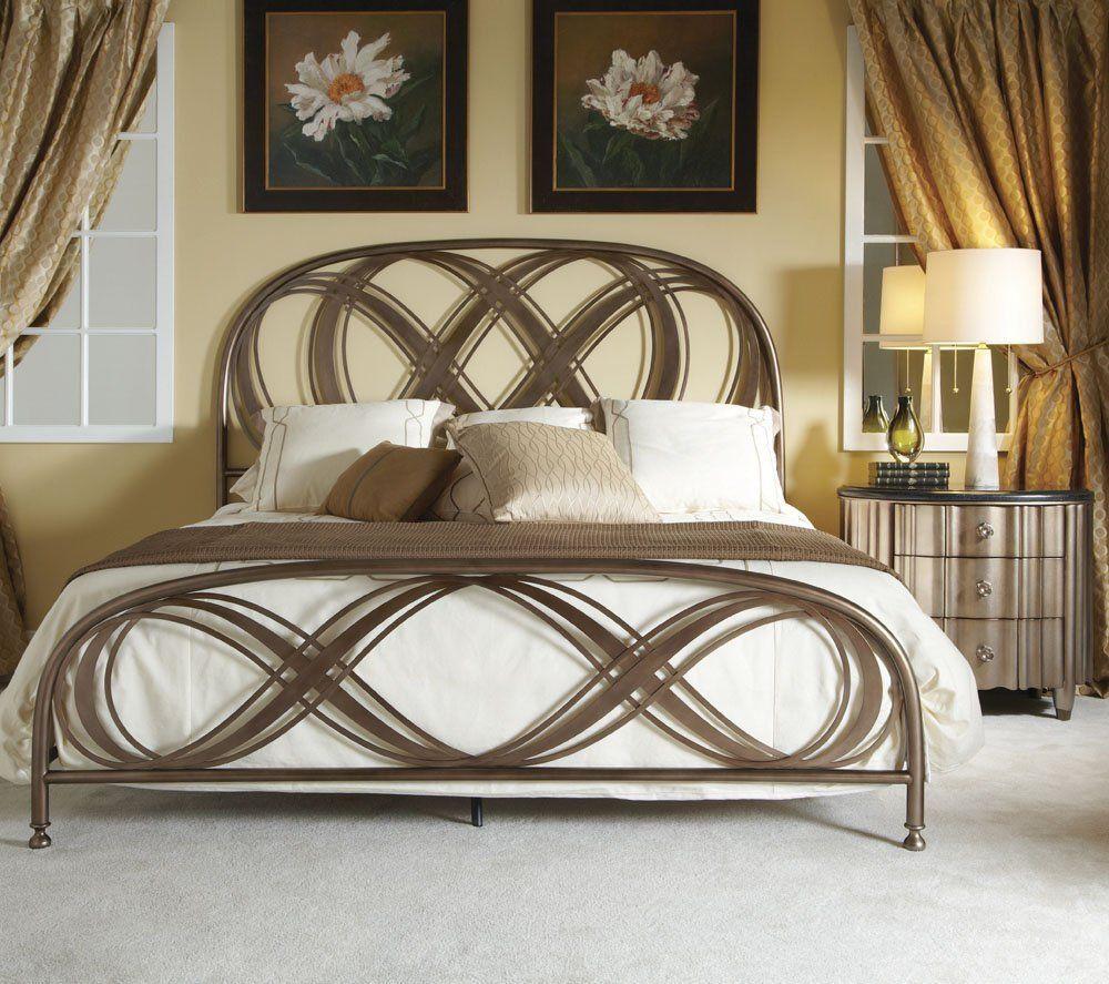 Amazon.com   American Drew Bob Mackie 2 Piece Metal Bedroom Set W/ Oval