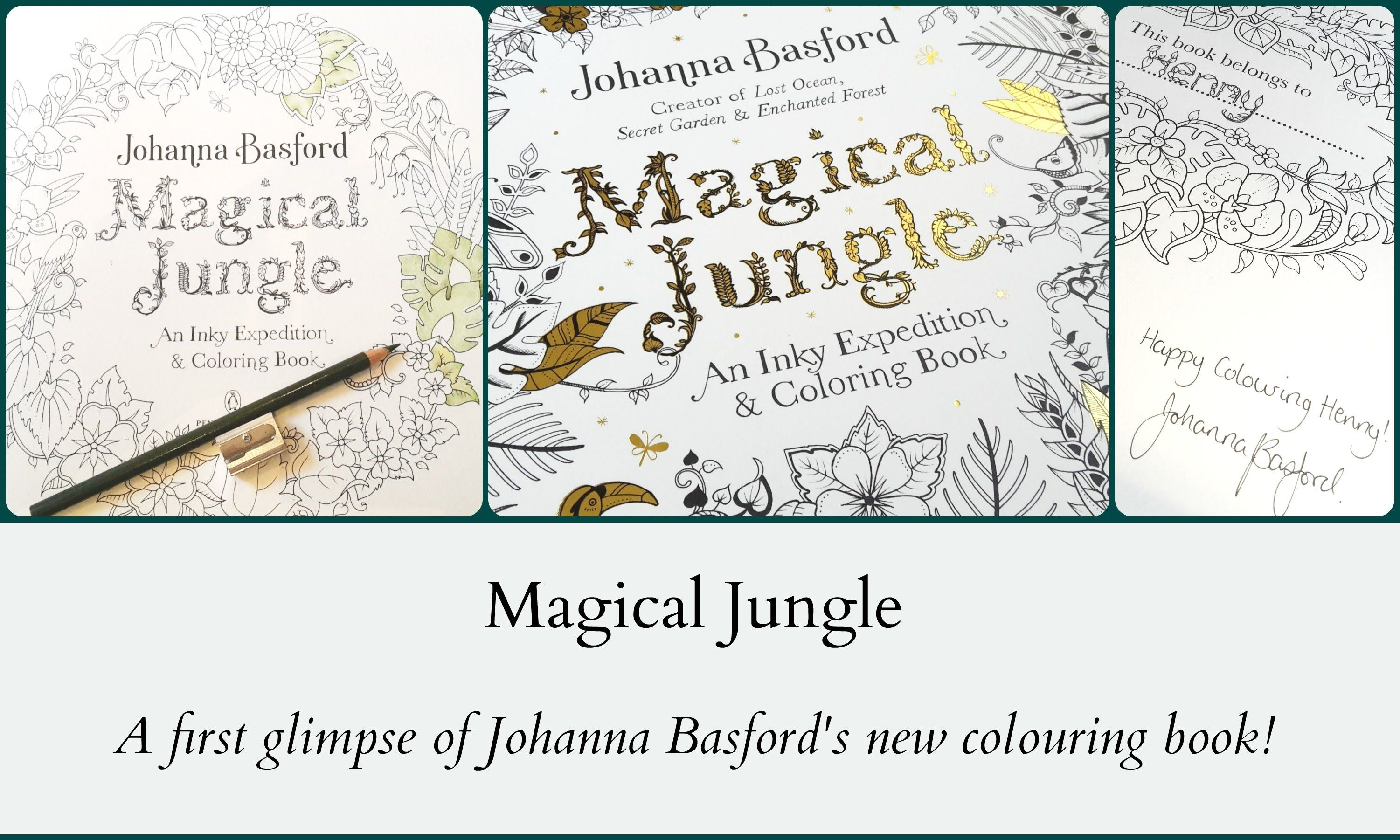 I Already Received Magical Jungle From Johanna Basford Join Me In This New Colouring Adventure Find Pin And More On Adult Coloring Book Pages