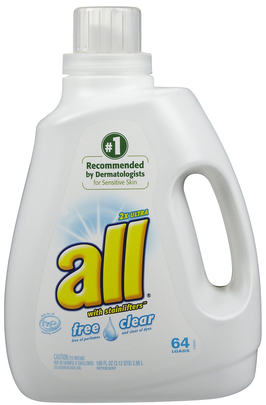 All HE Liquid Laundry Detergent Free & Clear we