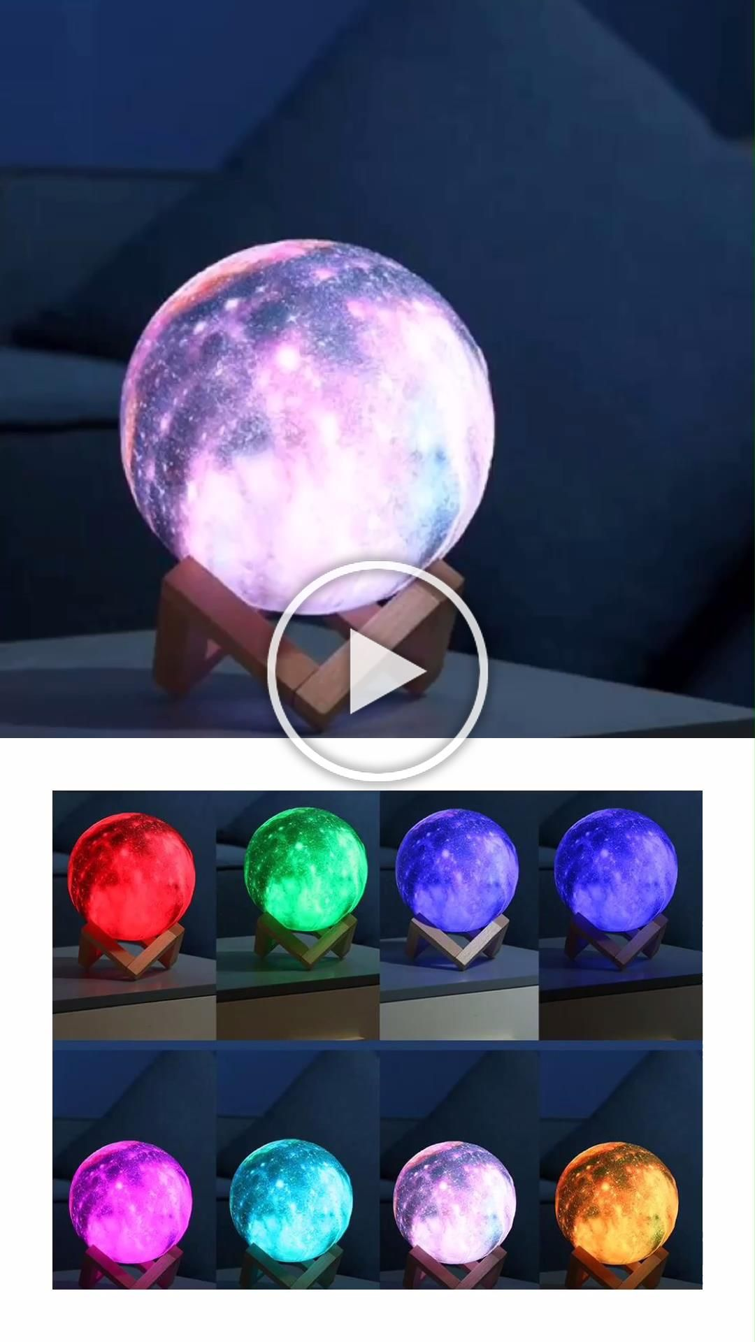 3d Printed Star Luna Moon Lamp Galaxy Bedroom Living Room Decor Lighting Ideas Moon Homedecor Lamp In 2020 Galaxy Bedroom Galaxy Room Kid Room Decor