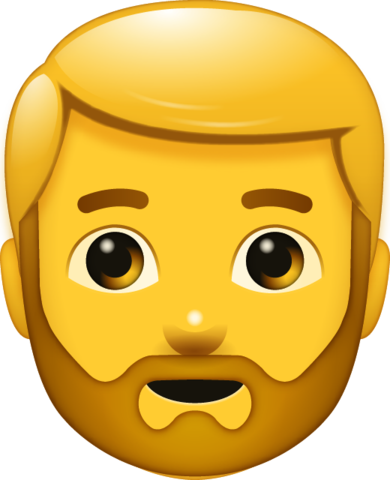 Beard Man Emoji Emoji Emoji Faces Bearded Men