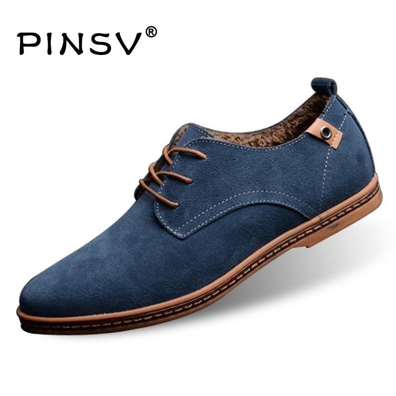 Big Size 48 Winter Shoes Men Boots Fur Leather Boots Men Casual Shoes 10  Colours Ankle Boots For Men Flats Zapatos Hombre 788b695fc40e