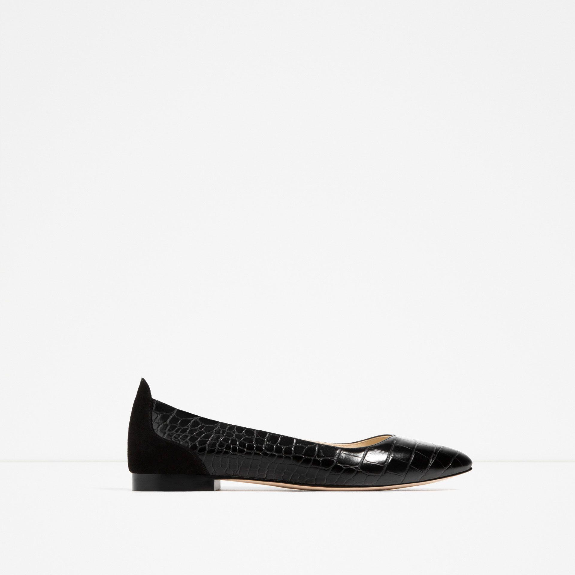 newest a7f2f 623c7 EMBOSSED BALLERINAS | shoes | Zara women, Ballerina shoes, Flats