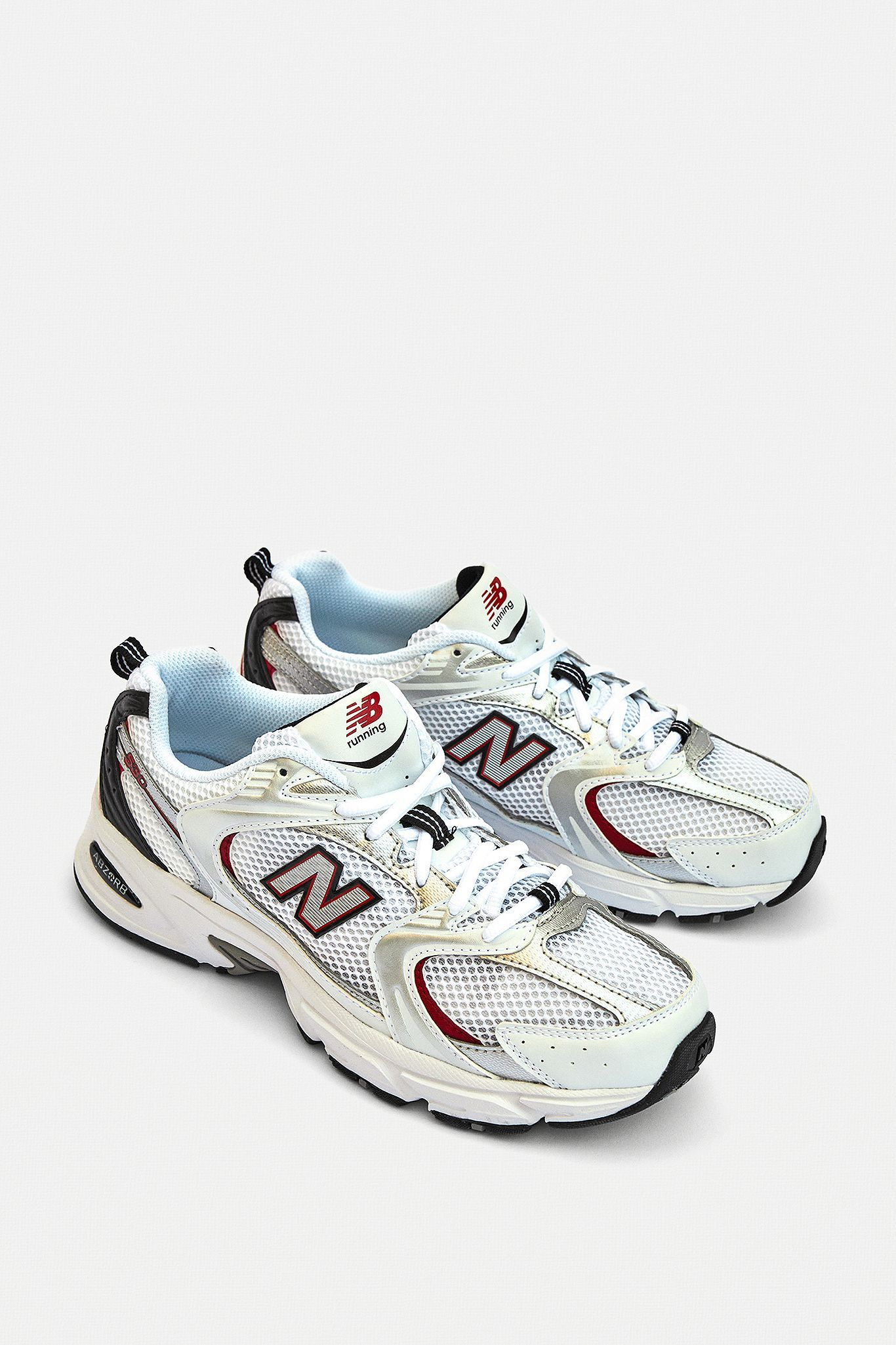 New Balance 530 White & Red Trainers   Urban Outfitters UK   Shoes ...