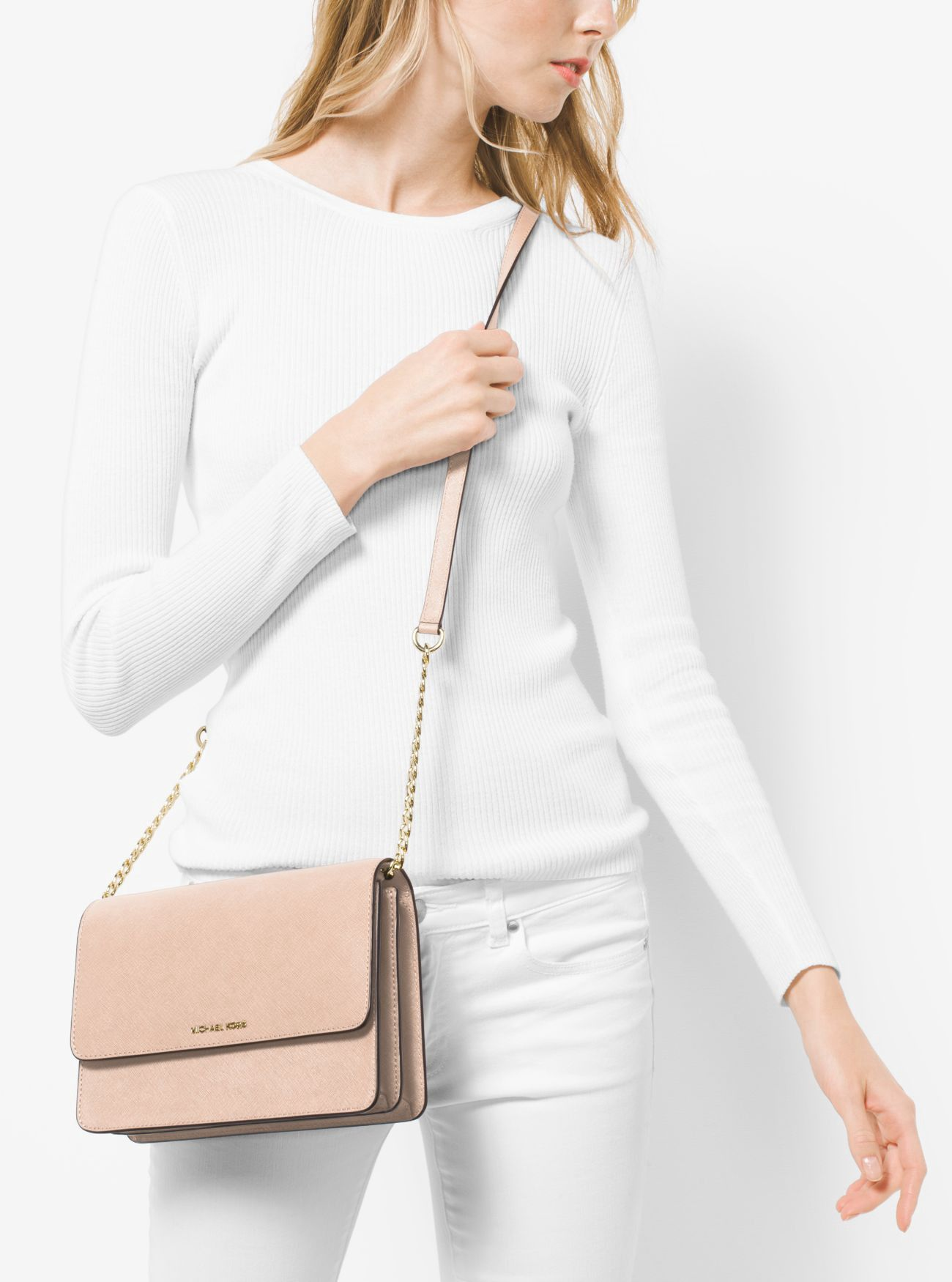 ac1fbc1a14a7 Michael Kors Daniela Large Leather Crossbody - Admiral in 2019 ...