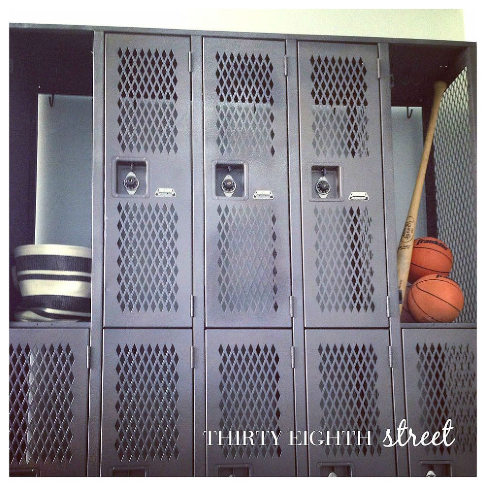 Industrial locker makeover lockers industrial lockers