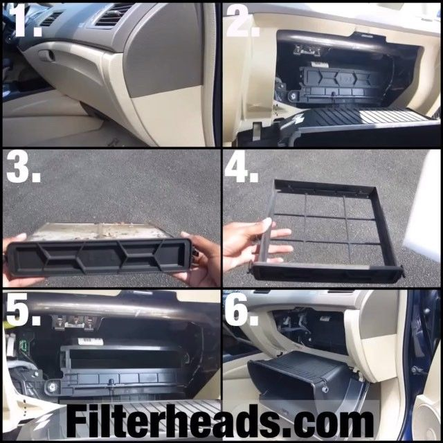 The Steps To Changing A 2006 Honda Civic Cabin Filter. Filter Needed Is A  AQ1058