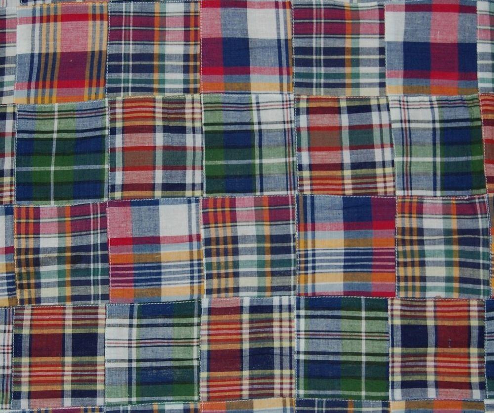 Three Chickadees Cotton Patchwork Madras Fabric ~ Summer Sunset ~ EASTER