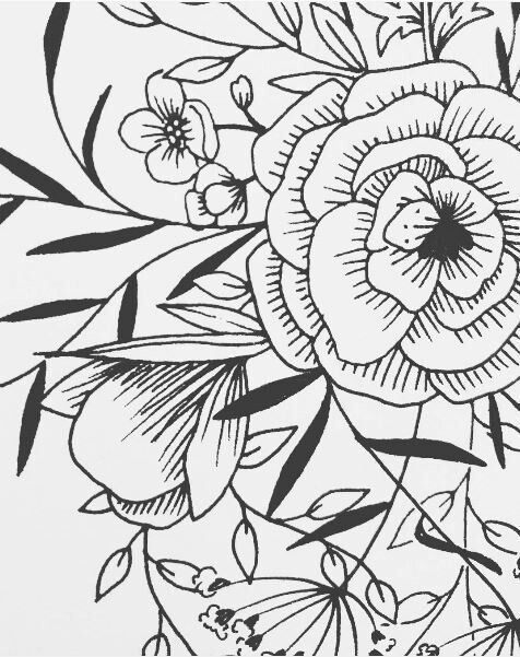 Texture Fleur 006 Illustration Line Art Drawings Geometric Mandala Tattoo