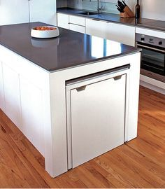 This Kitchen Island With A Pull Out Table Was Actually My Client S Idea He And His Wife Sometimes Entertain Larg Kitchen Design Kitchen Interior Home Kitchens