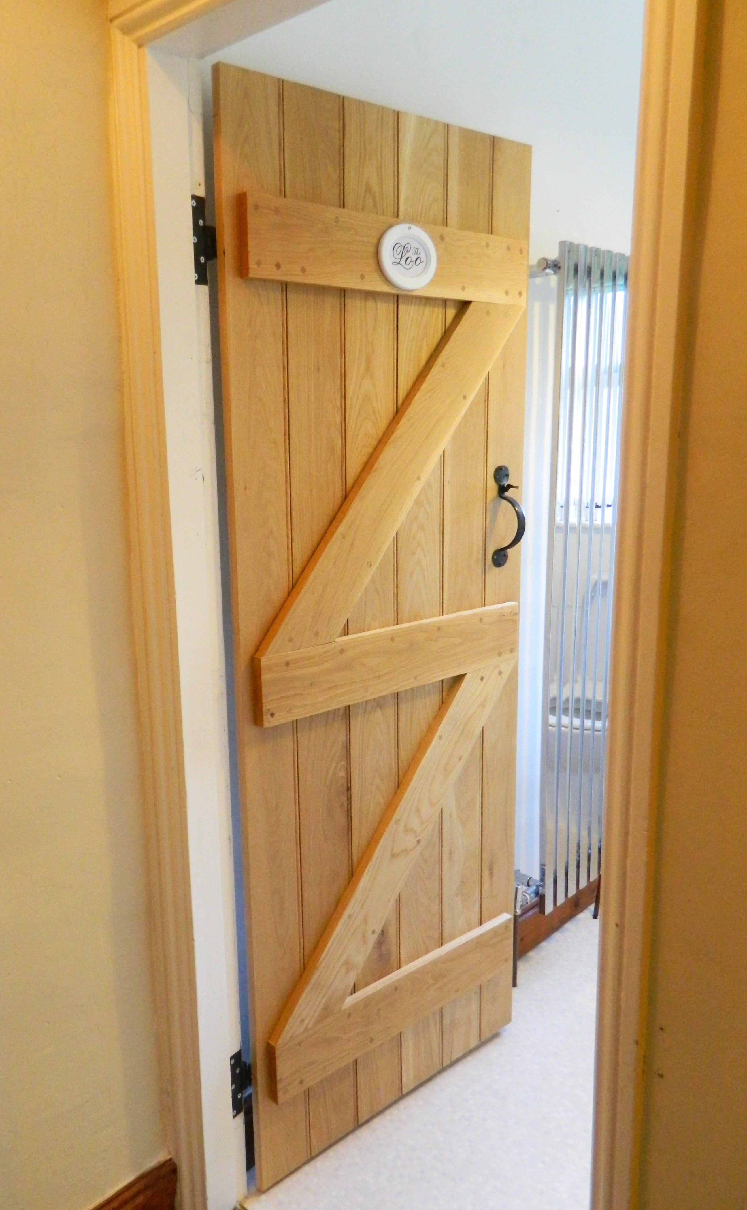 Solid Oak Ledged And Braced Door Traditional Cottage Door