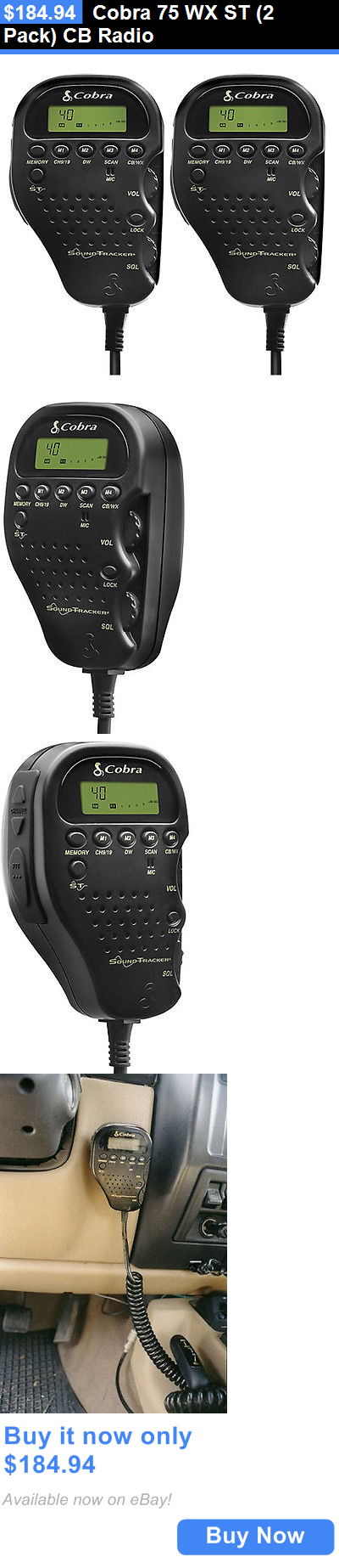 cb radios cobra 75 wx st 2 pack cb radio buy it now only cb radios cobra 75 wx st 2 pack cb radio buy it now