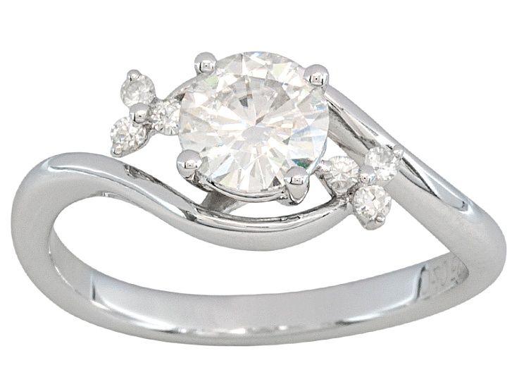 Moissanite Fire 88ct Diamond Equivalent Weight Round Platineve Ring Moissanite Jewelry Rings Diamond