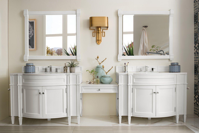 118 Brittany Cottage White Double Bathroom Vanity James Martin Vanities Vanitiesdepot Com Double Vanity Double Vanity Bathroom Vanity Set